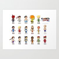 Super Street Fighter II Turbo Art Print