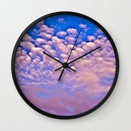 Strawberry Skies Wall Clock