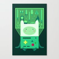 beemo Canvas Prints featuring Make Believe by badOdds
