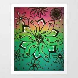 Flower Jammin' Art Print