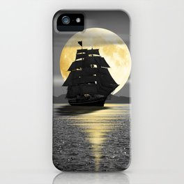 A ship with black sails iPhone Case
