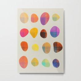 Painted Pebbles 4 Metal Print
