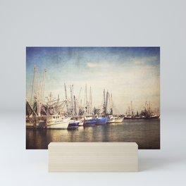 Gulf Coast Shrimp Boats Mini Art Print