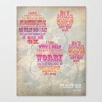 modest mouse Canvas Prints featuring Modest Mouse by Jessica Krzywicki