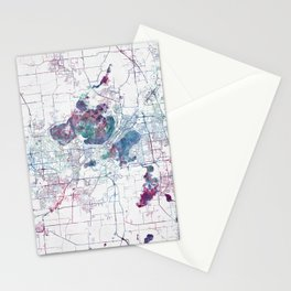 Madison map Stationery Cards