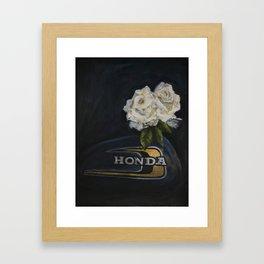 Classic White Roses Framed Art Print