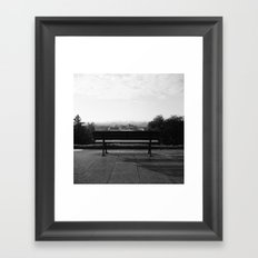 Alone in the Park Framed Art Print