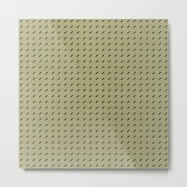 DASH DASH LINEN . MID-CENTURY LICHEN Metal Print