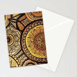 Sunburst Mandala Collage Stationery Cards
