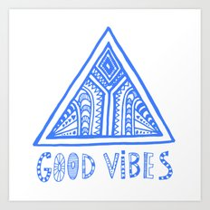 Good Vibes Mindset Art Print