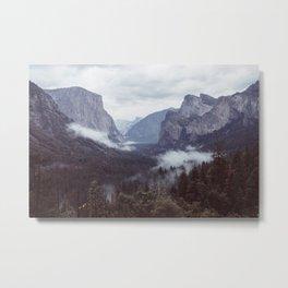 Yosemite, Tunnel view Metal Print