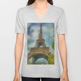 Eiffel Tower - La Tour Eiffel Unisex V-Neck