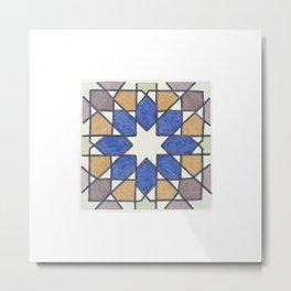 Blue Orange Purple Tiles Of Alfama, Lisbon Metal Print
