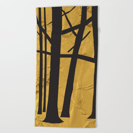 Give the trees as a gift Beach Towel