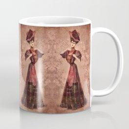Woman in red Edwardian Era in Fashion Coffee Mug