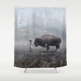 MeeTe Buffao Shower Curtain