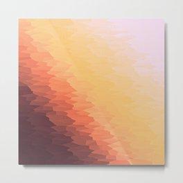 Peach Texture Ombre Metal Print