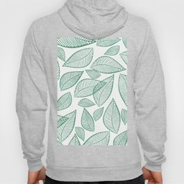 Modern abstract green glitter foliage floral Hoody