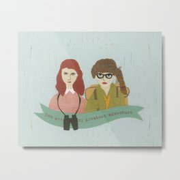 Suzy and Sam Together Metal Print