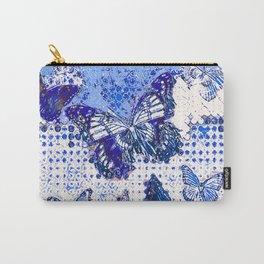 MODERN ART DESIGN of  FRENCH BLUE MONARCH BUTTERFLIES Carry-All Pouch