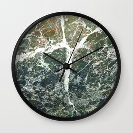 Stone texture with crack Wall Clock
