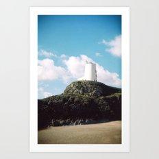 Twr Mawr Lighthouse Art Print