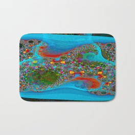 Abstract Topography Bath Mat