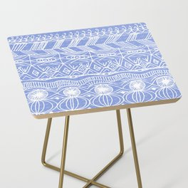 Periwinkle Blanket Side Table