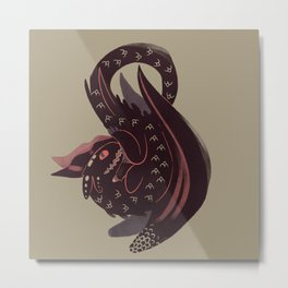 The Bravest Dragon Metal Print