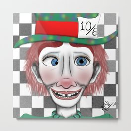 Hysterical Hatter Metal Print