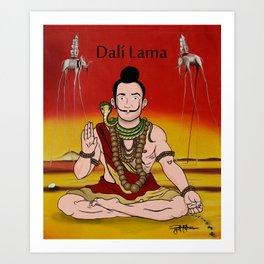 Dalí lama Art Print