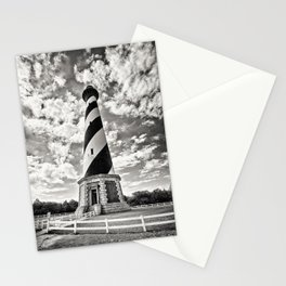 Sepia - Cape Hatteras Lighthouse, Outer Banks, NC Stationery Cards