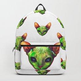 Alien sphynx cat Backpack
