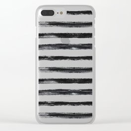 Grungy stripes Clear iPhone Case