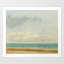 "Gustave Courbet ""Calm Sea, 1866"" Art Print"