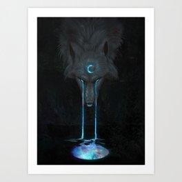 Aurora Moon Art Print