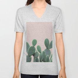 Cactus on Blush Unisex V-Neck