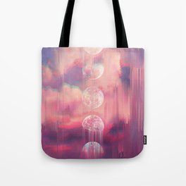 Moontime Glitches Tote Bag
