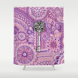 The key to success !  Shower Curtain