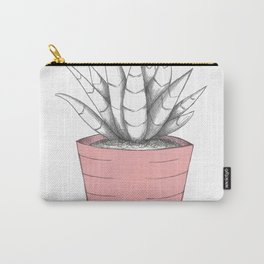 Succulent in Pink Carry-All Pouch