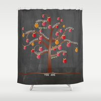 teacher Shower Curtains featuring Teacher Appreciation by My Studio