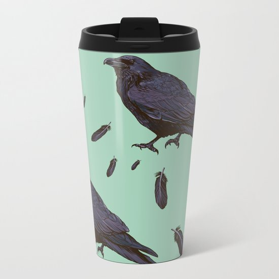 Mint Raven Metal Travel Mug