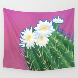 Cactus Blossoms Wall Tapestry