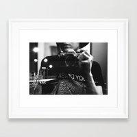 joy division Framed Art Prints featuring Joy Division by Birgit Suitsu