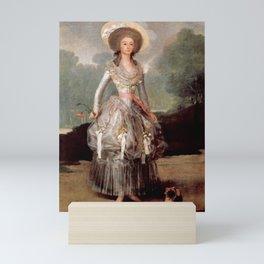 Francisco de Goya - María Ana de Pontejos y Sandoval, Marchioness of Pontejos Mini Art Print
