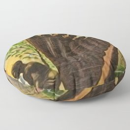 African American Masterpiece 'Lift Up Every Voice & Sing' based on the sculpture by Augusta Savage Floor Pillow
