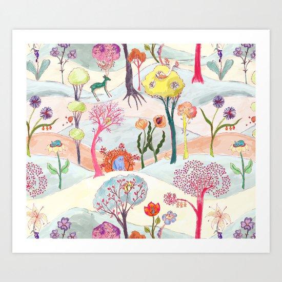 Garden Party - Print Art Print
