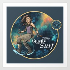 Gravity and Surf Art Print