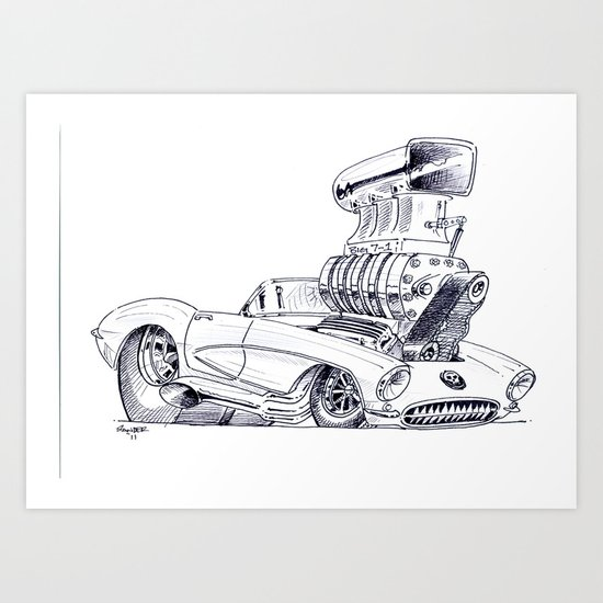 Blown Vette Art Print