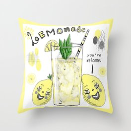 You're Welcome, Love, The Lemons Throw Pillow